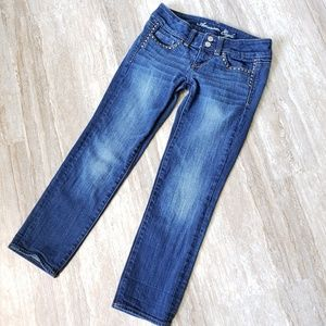 American Eagle Artist Crop Jeans, Sz 0 regular